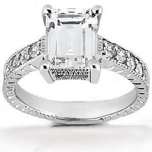 1.51 ct. diamonds white gold engagement ring